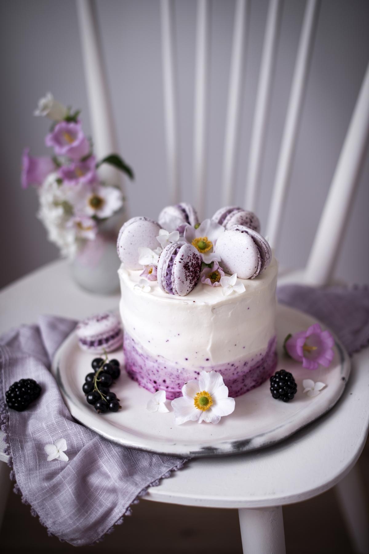01-Frau-Herzblut_Cassis-Joghurt-Toertchen-mit-Macarons